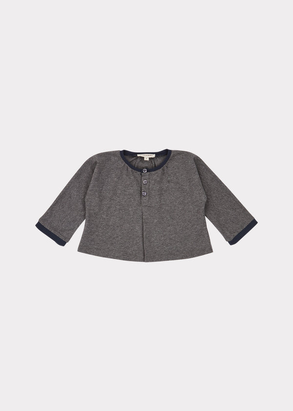 Baby Boys & Girls Grey Melange Heron Blouse