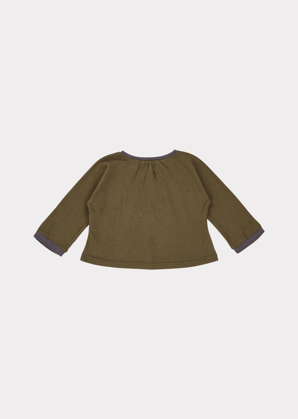Baby Boys & Girls Khaki Heron Blouse