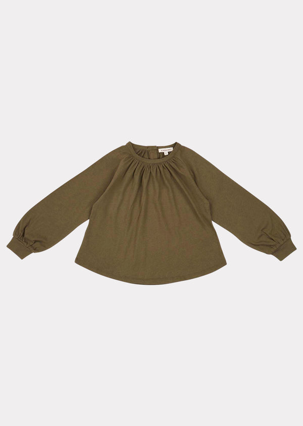 Girls Khaki Heron Blouse