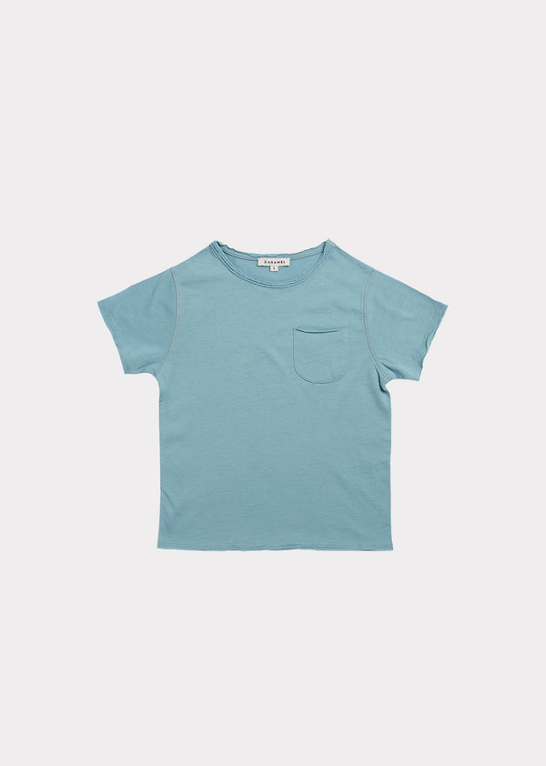 Boys & Girls Blue Cotton T-shirt