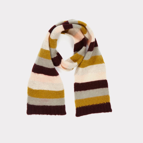Girls Rosewood Striped Scarve