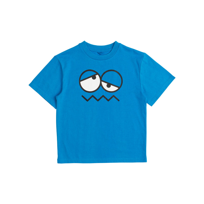 Boys Bright Blue Cotton T-Shirt