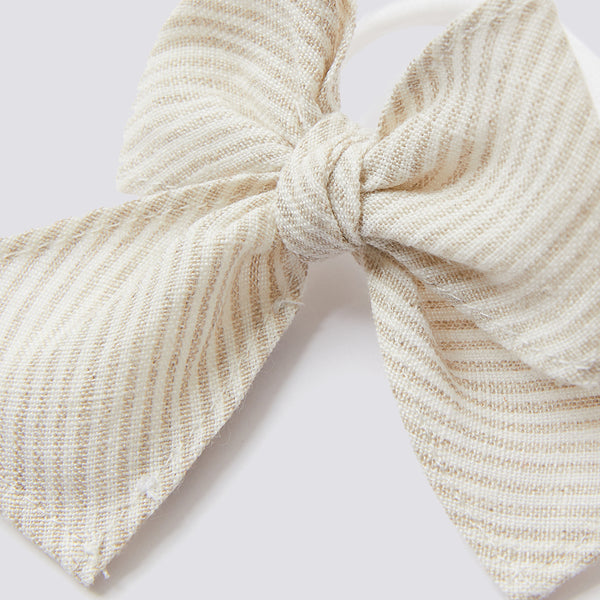 Girls Small Beige Line Hair Accessory