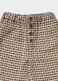 Boys Green Checked Trousers