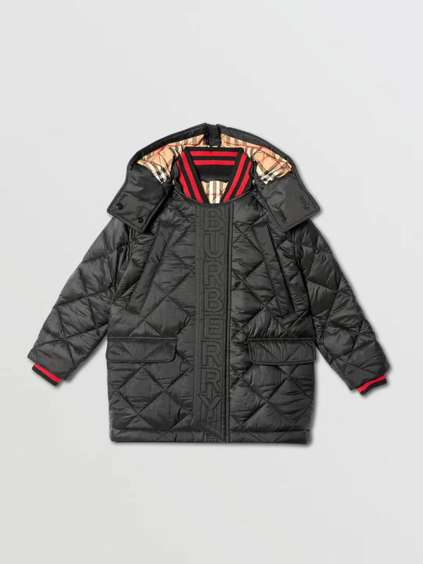 Boys Black Padded Down Jacket