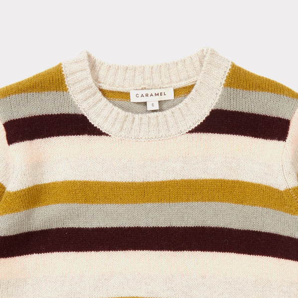 Girls Rosewood Striped Sweater