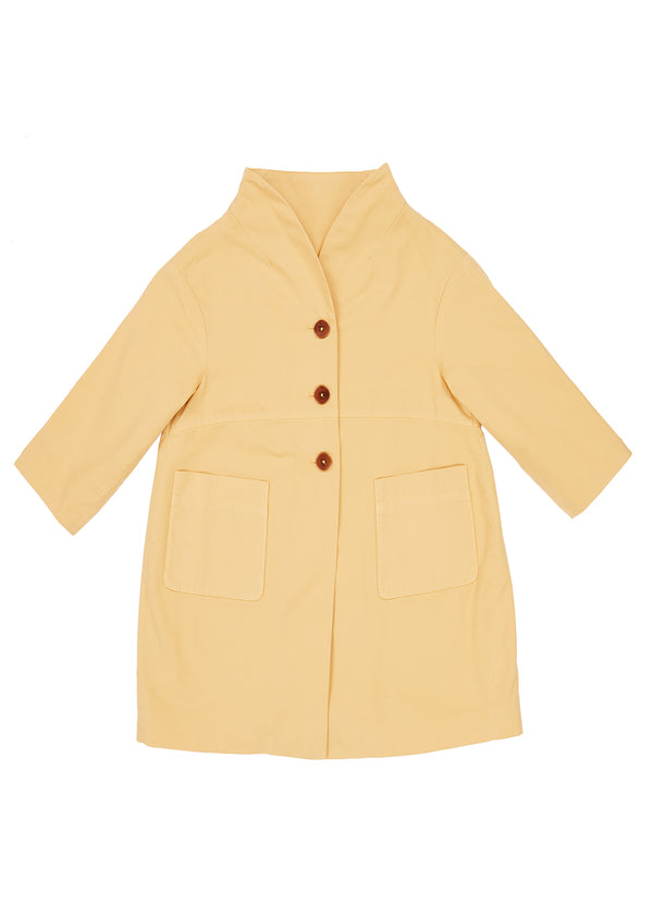 Girls Yellow Coat
