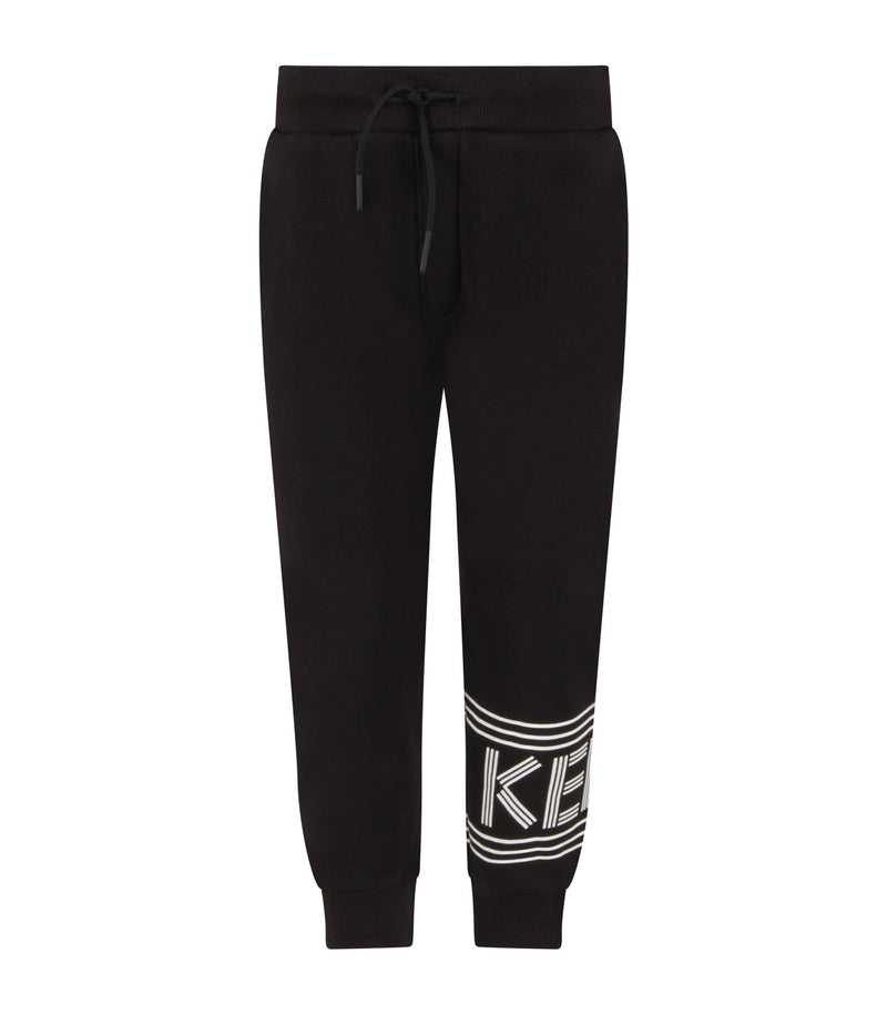 Boys Black Logo Trousers