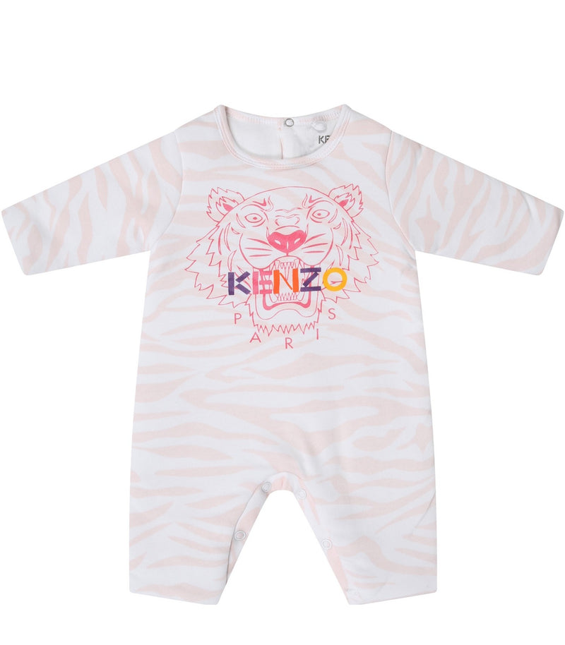 Baby Girls Light Pink Babysuit