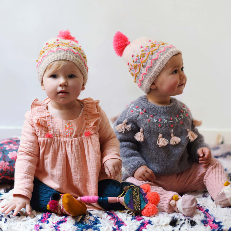 "Girls Beige ""Arthur"" Hat"