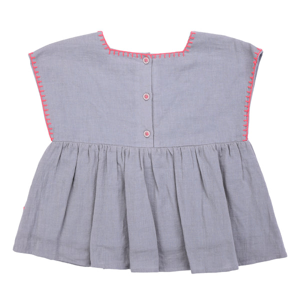 Girls Silver Cloud Top