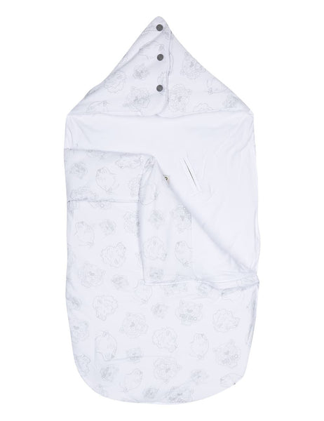 Baby Grey Cotton Printed Sleeping Bag
