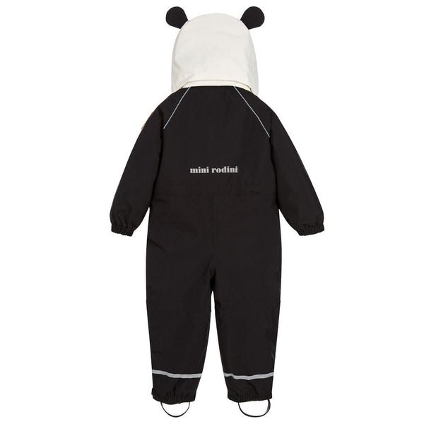 Baby Boys & Girls Black Alaska Panda Babysuit