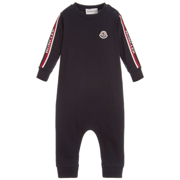 Baby Boys Navy Cotton Babysuits