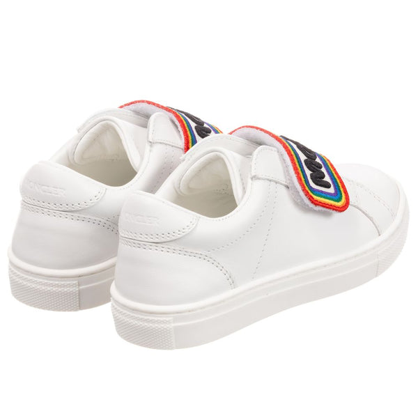 Boys & Girls White Logo Shoes