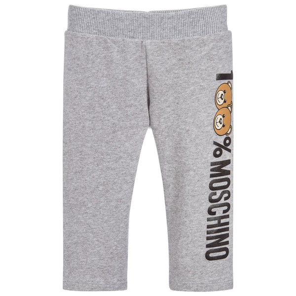 Baby Melange Grey Cotton Trousers