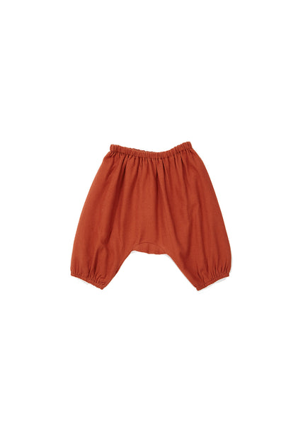 Baby Girls Caramel Cotton Trousers