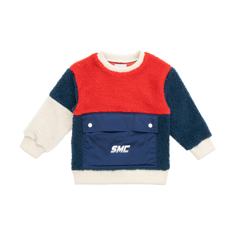 Boys Multicolor Teddy Bear Sweatshirt