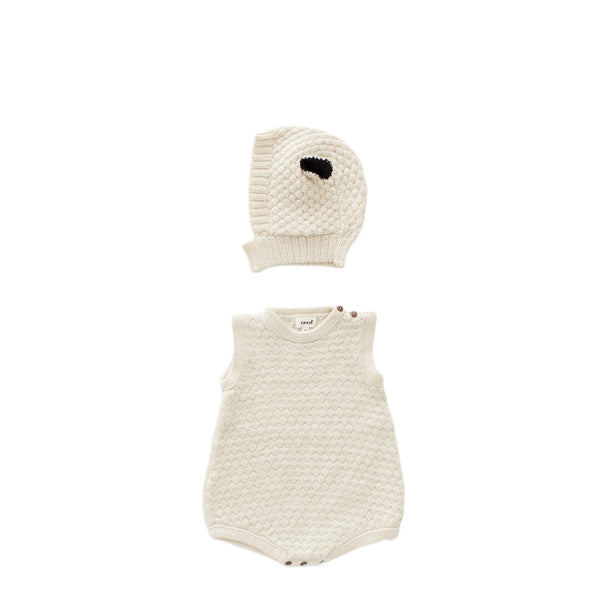 Baby Boys & Girls White Sheep Romper