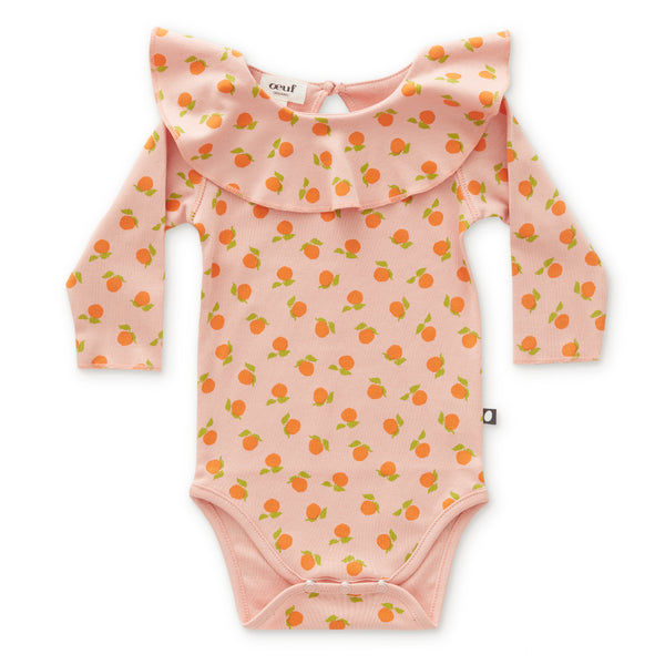 Baby Girls Pink Pattern Cotton Babysuit