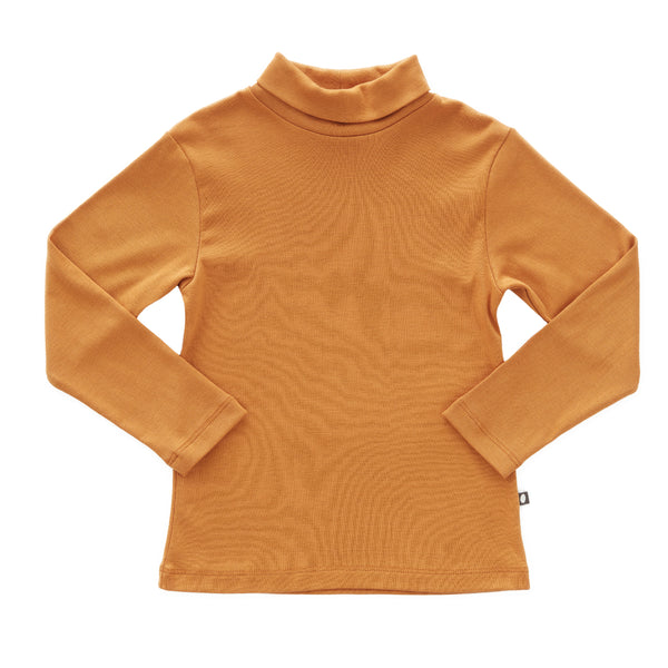 Girls Ochre Turtleneck Cotton Top