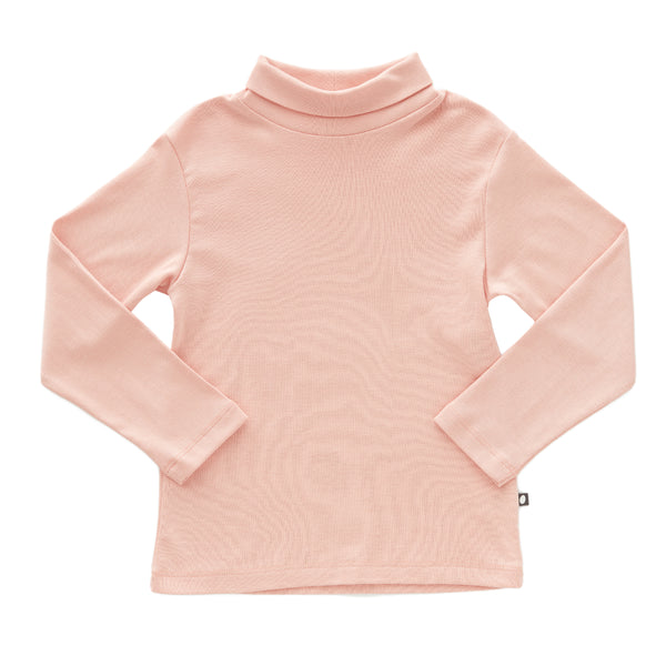 Girls Pink Turtleneck Cotton Top