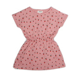 Girls Rose Strawberries Printed Jersey Dress