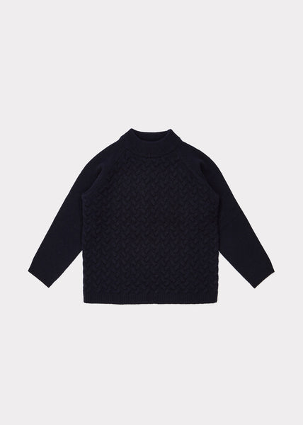 Boys & Girls Navy Wool Sweater