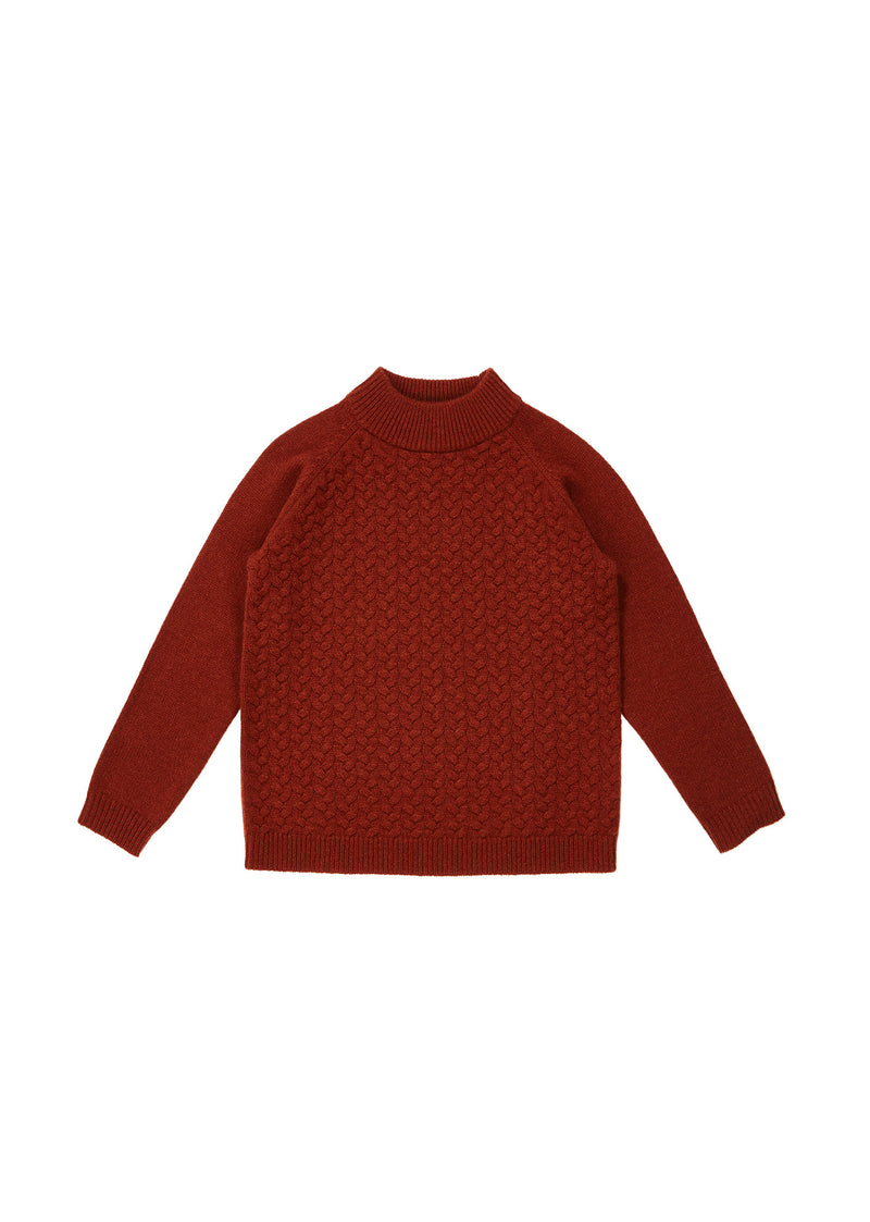 Girls Rust Cashmere Sweater