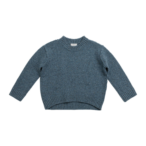 Girls Light Blue Knit Jumper