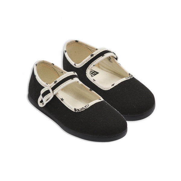 Girls Black Cotton Shoes