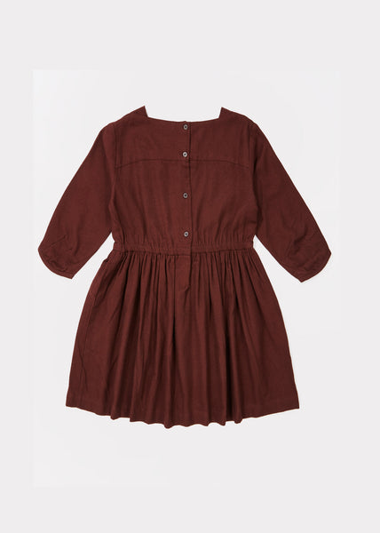 Girls Chocolate Cotton Dress