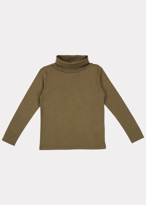 Boys & Girls Khaki Pheasant Turtleneck