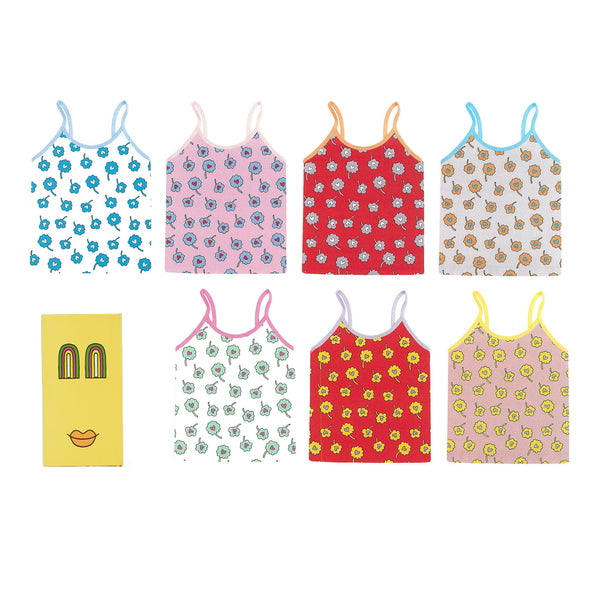 Girls Multicolor Cotton Vest Sets (7 Pieces)