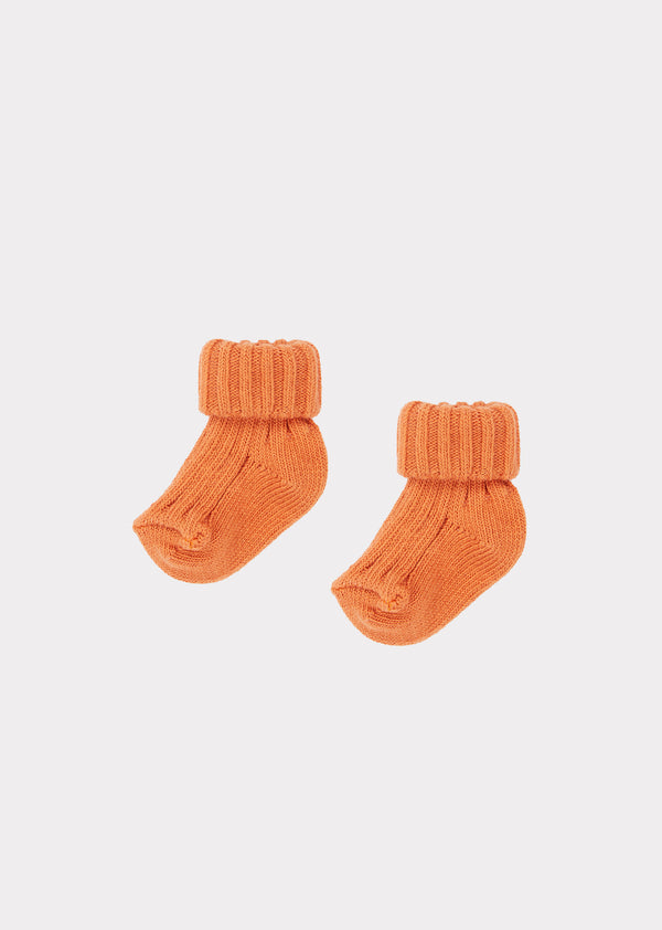 Baby Boys & Girls Apricot Cotton Socks