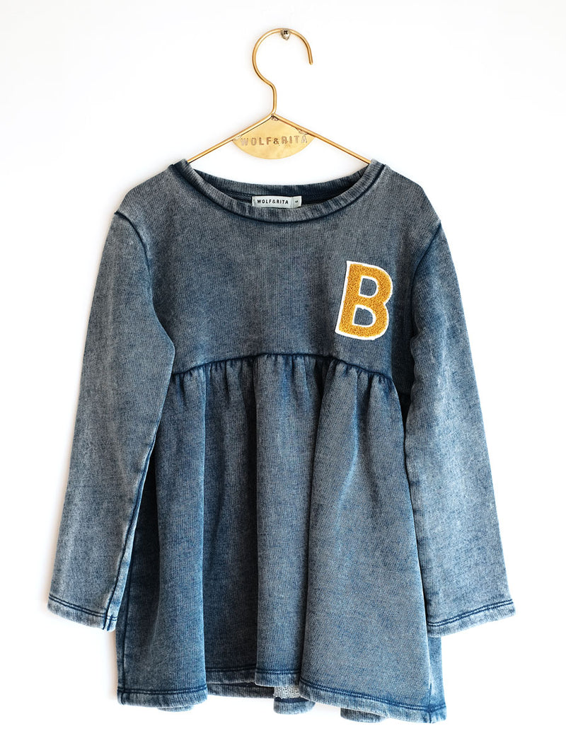 Girls Denim  鈥淩OSA鈥? Cotton   Top