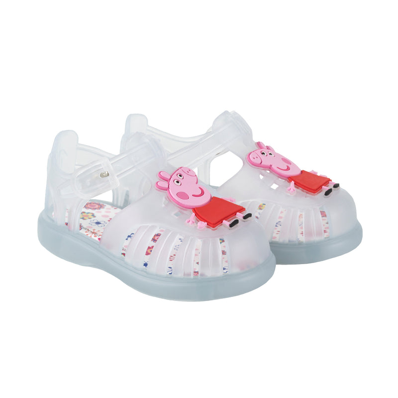 Girls & Boys Transparent White Jelly Shoes