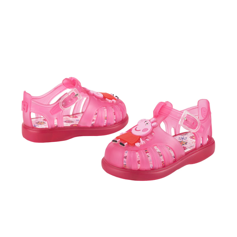 Girls Transparent Pink Jelly Shoes