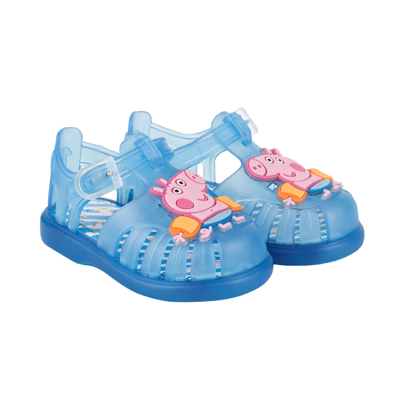 Boys & Girls Transparent Blue Jelly Shoes