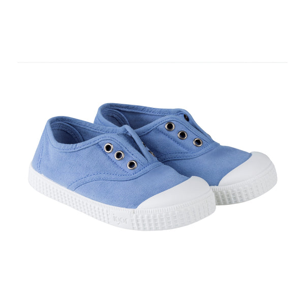 Girls & Boys Blue Cotton Shoes
