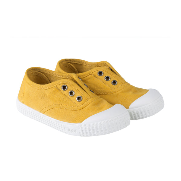 Girls & Boys Ginger Yellow Cotton Shoes