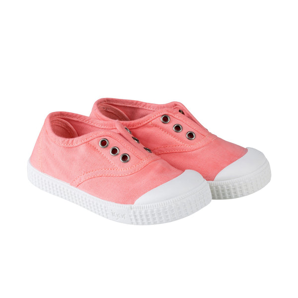 Girls Light Pink Cotton Shoes