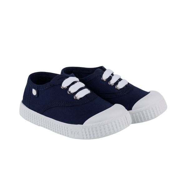 Girls & Boys Navy Cotton Shoes