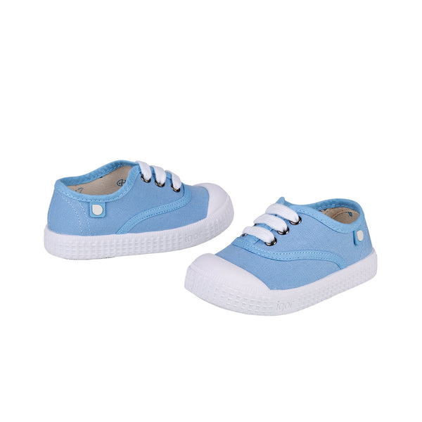 Girls & Boys Light Blue Cotton Shoes