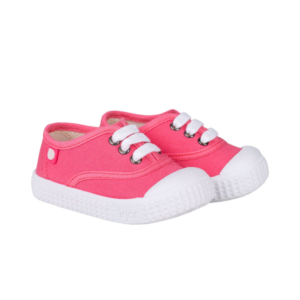 Girls Pink Cotton Shoes