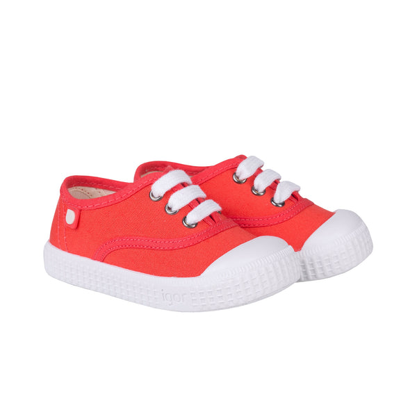 Girls Orange Cotton Shoes