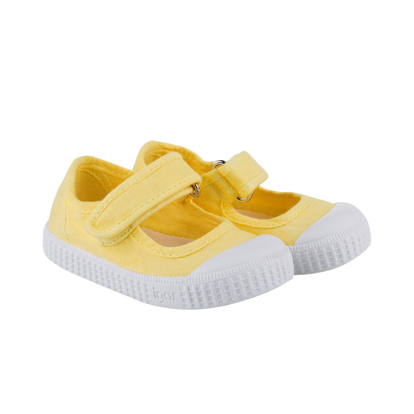 Girls Yellow Cotton Shoes