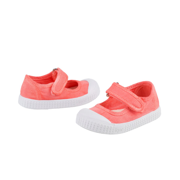 Girls Coral Cotton Shoes