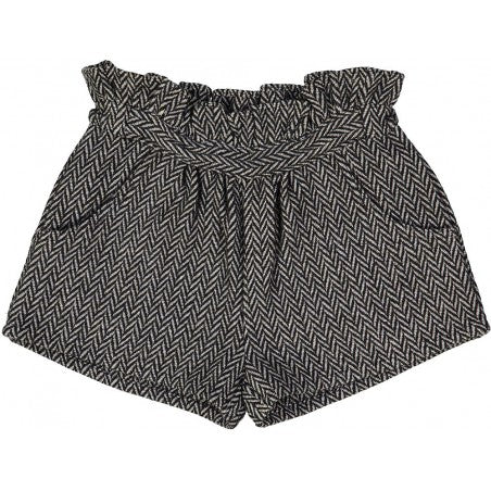 Girls Grey Wool Shorts