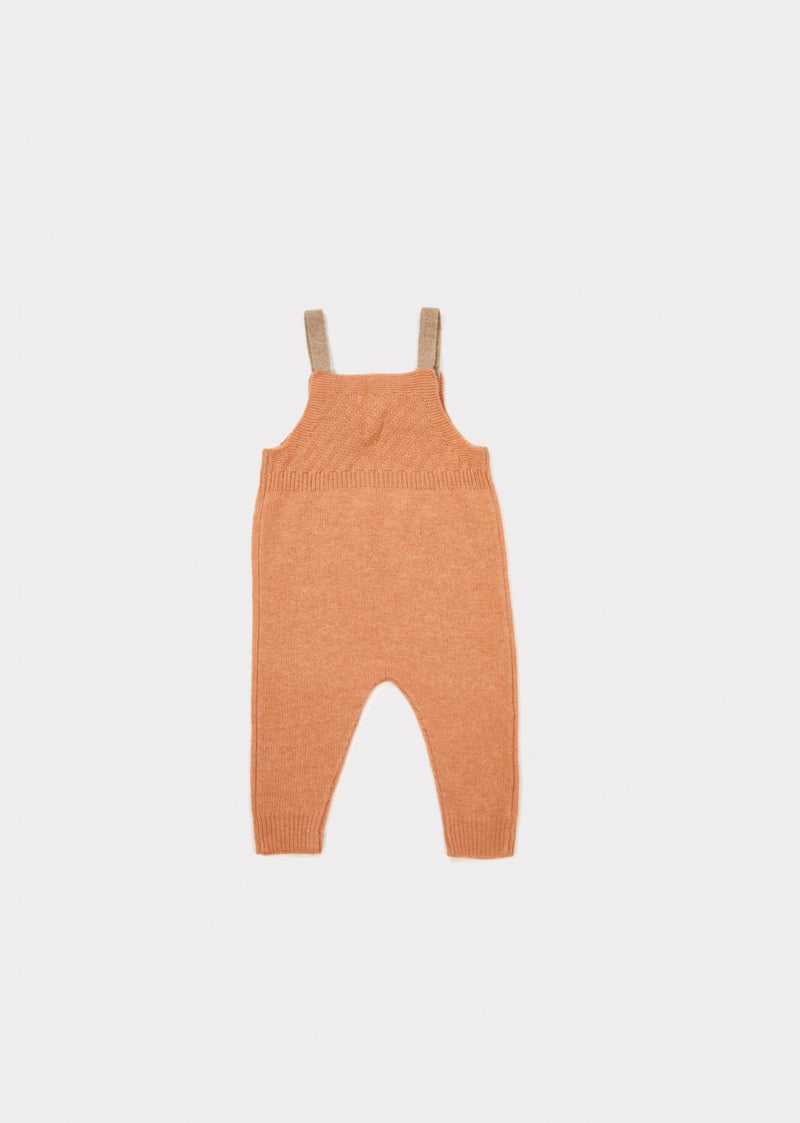 Baby Light Orange Knitted Romper